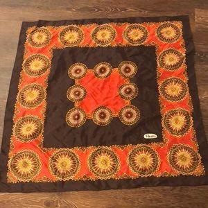 paoli Accessories - 26 x 26 scarf Paoli brown/orange/yellow/white